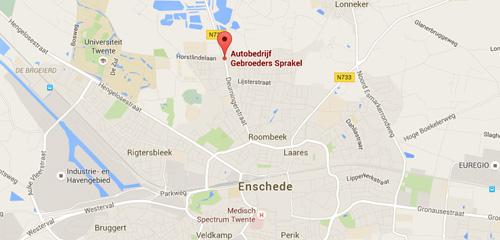 Autobedrijf Gebr. Sprakel - Routekaart
